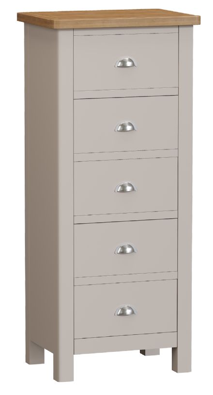 Richmond Painted Oak 5 Drawer Chest